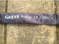 Greys Prodigy 12ft 2 3/4 tc carp rod - excellent condition
