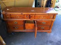 Solid Wood Dresser, Mirror, Headboard