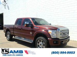 2015 Ford Super Duty F-350 SRW Platinum 4x4 with Moonroof and Na