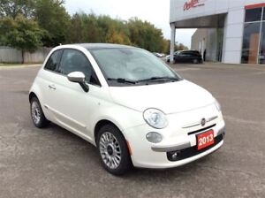 2013 Fiat 500 Lounge..1 owner..accident free..