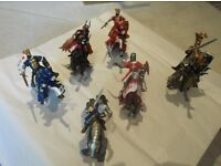 Knights and horses made by the Papo range of figures.