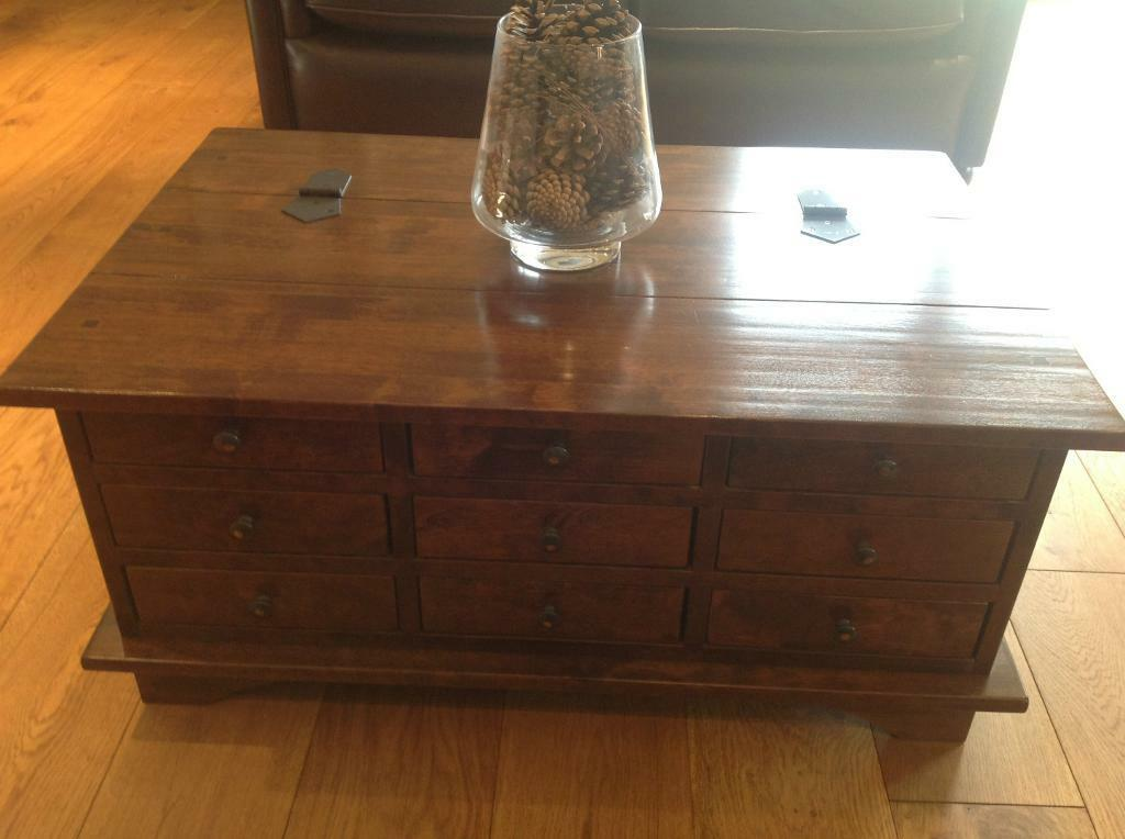 Immaculate Laura Ashley Garrat Chestnut Coffee Table Chest New Like Condition United