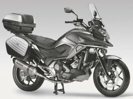 Honda NC750x DCT Adventurer Motorcycle with full panniers