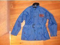 TT Leathers Motorcycle rain waterproofs Trials bike jacket 1970s