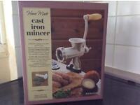 Cast iron meat mincer