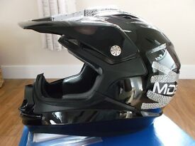 """AGV / MDS ON-OFF """"Lace Up"""" MotoX ATV Motorcross Helmet Adult Size Small / New / Boxed."""