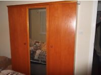 3 door wardrobe ,chest of drawers, nightstand