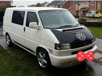 White VW T4 SWB TDI Transporter