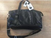 Storksak by bugaboo black leather change bag , BRAND NEW COST £250