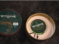 3 number fly fishing lines new in box's and tin