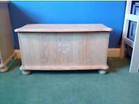 Childs whitewashed pine chest
