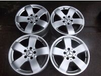 "2114014502 Genuine Mercedes 211 E-Class Rucha Alloy Wheels 7.5 x 16"" ET42 set"