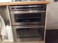 DELUX UNDER GAS DOUBLE OVEN ---HOB TO MATCH