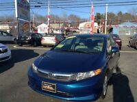 2012 Honda Civic LX, GREAT VALUE!! ONE OWNER CAR. 4 NEW TIRES, R