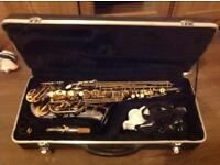 Black and Gold Saxophone