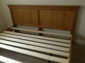 Solid Oak Super King Size Bed Frame