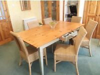 dining room table, 6 chairs and matching sideboard, excellent condition. Trouser press.
