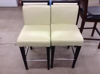 Low Back Leather Stools