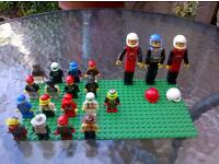 an assortment of Lego characters