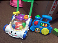 FISHER PRICE PUSH ALONG AND TRAIN (ALL FUNDS TO CANCER SUPPORT