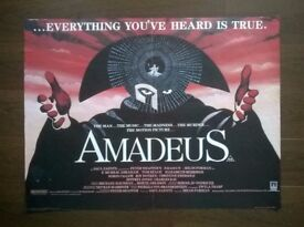 amadeus ' original cinema poster