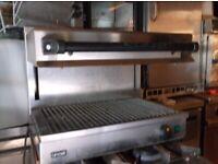 used lincat silver link 600 adjustable salamander grill