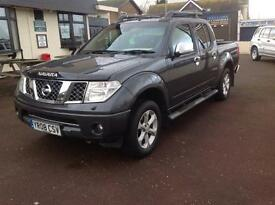 NISSAN NAVARA OUTLAW D/C - 12 MONTHS WARRANTY - P/X WELCOME - ANY TRAIL £5250 Ono