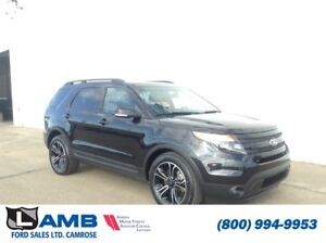 2015 Ford Explorer Sport 4WD with Moonroof, 2nd Row Captain's Ch