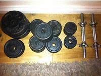 Weights set 55kg