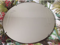 ART DECO ROUND MIRROR WITH BEVELLED DESIGN-CLASSIC STYLE