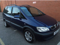 Vauxhall Zafira Design 1.8i 16v 2003 Blue 7 Seats Urgent