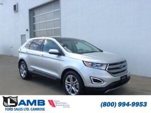 2017 Ford Edge Titanium 301A AWD with Blind Spot System, Cold We