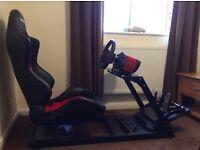 Racing simulator game chair