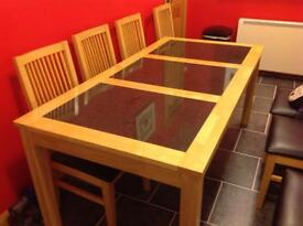 Dinning Room Table and 8 chairs.
