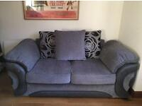 Immaculate Sofology Serena 2 Seater Sofa - black / grey mix