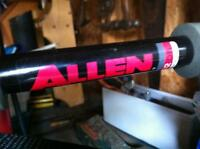Allen Rear bike carrier and Propel bicycle pump