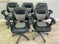 5 x Leather Office Chairs
