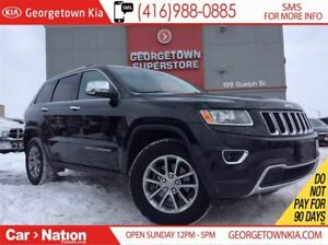 2015 Jeep Grand Cherokee Limited|4X4| HTD SEATS & WHEEL | B/U CA