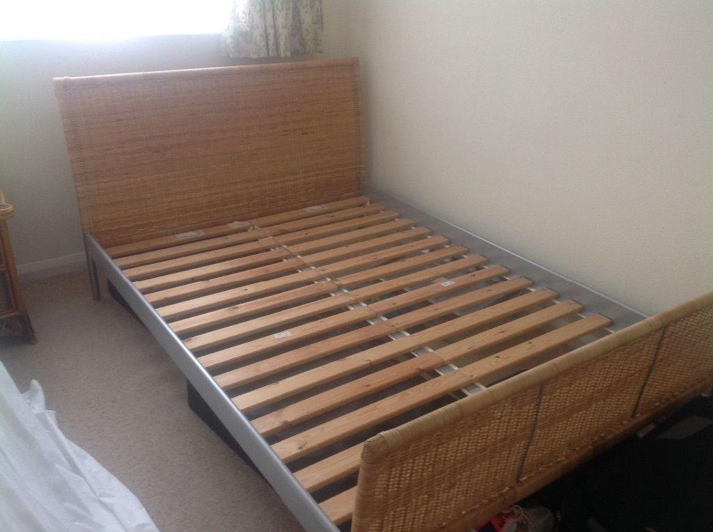 double bed frame ikea wicker