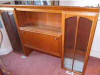 Teak and Glass Display Cabinety