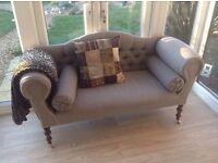 2 seater designer herringbone sofa immaculate