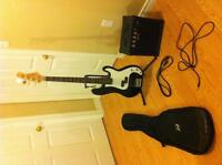 Bass guitar (amp, stand and case included)
