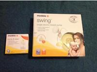 Medela swing electric breastpump with pump and save bags