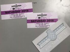 1 x Goodwood Festival of speed ticket 2018 Saturday 14th July