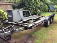 Brian James Clubman Car Trailer. Twin Axle / Braked. Very Good Condition.