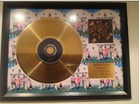 Rolling Stones 24 carrot plated gold disc