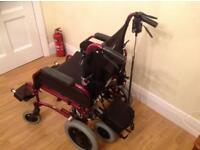 Lightweight Alloy Wheelchair with Brakes + Attendant Assist Twin Wheel Power Pack for Wheelchairs