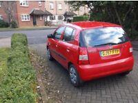 Kia Picanto 1086 cc 5 door hatchback 57 reg, red,2 owners,fsh,2 keys,books bills mots,lot from new