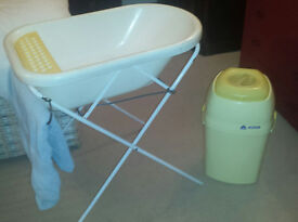 Baby Bath with stand and bucket