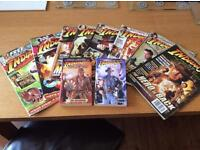 Collection of 8 Indiana Jones magazines & 2 Indiana Jones books